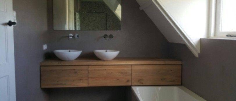 Massief houten badkamermeubel | Veel keuze in houtsoort - Hout - Marmer