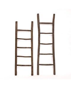 Houten decoratie ladder | Rustiek Bruin | 50x5x175 - TK-DL-50-5-175-RUSTIC-BROWN