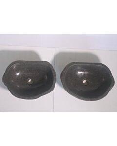 2 Natuurstenen waskommen | TwinSinks s05 | 45x34x15 small image