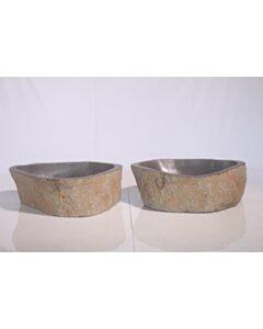 2 Natuurstenen waskommen | TwinSinks s07 | 45x37x15 small image