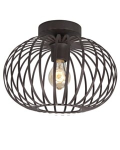 Quin | Bolle Rotan Hanglamp | Zwart | 60 cm  - small image