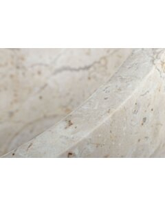 Blanco Mini   Fontein waskom wit marmer - 25x12 - SBP-FP-CREME-MINI