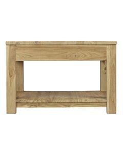 Teak salontafel met lade en onderblad | 60x60x45 - DEV-CT-1L-60-60-45