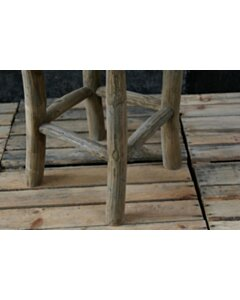 Western   Houten krukje - 30x30x45 - AM PS kruk Pank Stool