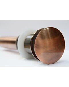 Pop-up Afvoerplug - zonder overloop - Rosé Goud - 1 1/4 Inch - 8416D