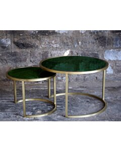 CT - Jamie Marble Green Gold  Set of 2