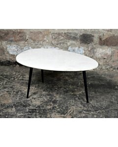 CT - Organic Marble White black  70cm