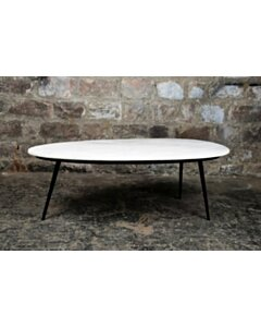 CT - Organic Marble White black 110cm