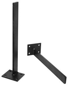 Set Zwarte Muurbeugels | 30 diep | 120 kg per beugel - zw-mb-30