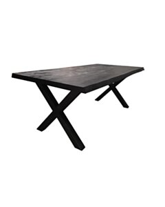 Xara Live-edge dining table 180x90 - top 5 - Black - TWR-NA0311-B