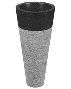 Natuurstenen wastafelzuil   Marmer   Zwart-Grijs - PD-B