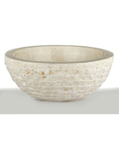 Wit Marmeren Waskom - Oblique | 45x21x15 - BMAM-CREAM
