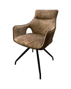 Nola swivel armchair - Brown velvet