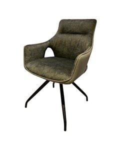 Nola swivel armchair - Green velvet