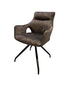 Nola swivel armchair - Grey velvet