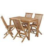 Bistro Tuinset | Tuintafel met 4 vouwstoelen - TK-SC001-ST012