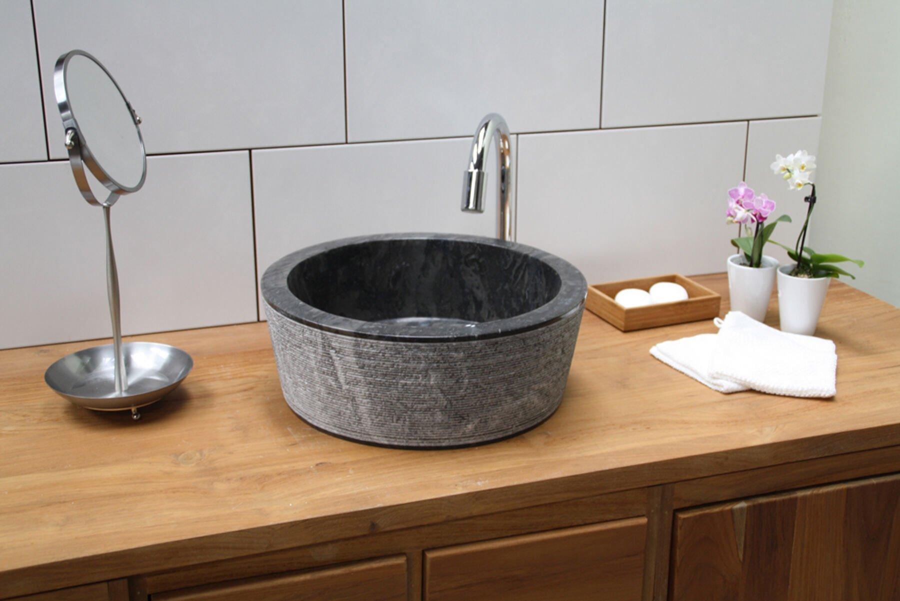 Opzet waskom zwart 👉 wiesbaden link opzetwastafel ron nodig